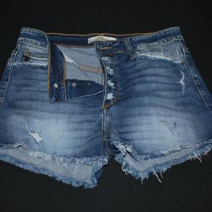 Kancan Signature Cut-off Jean Shorts